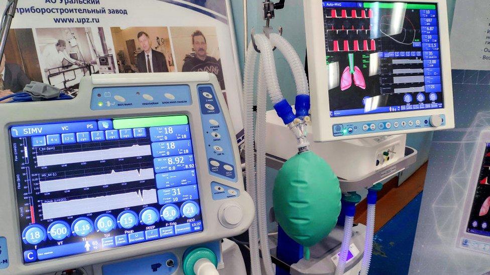 A commercially-produced hospital ventilator