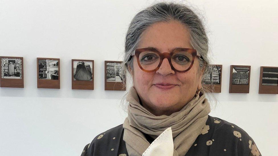 Danyanita Singh at a photography exhibition