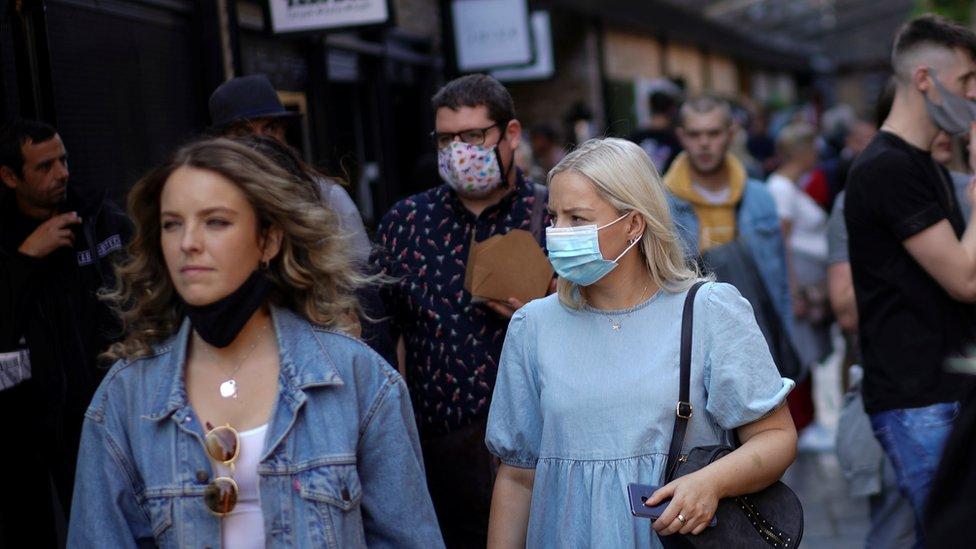 shoppers in Camden