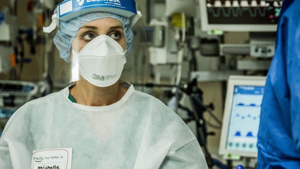 Nurse in mask