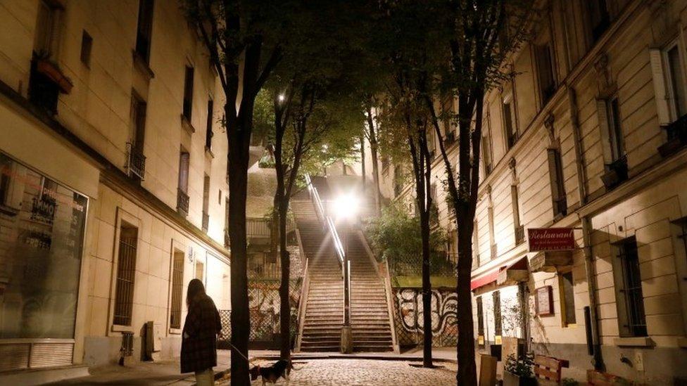 Empty Paris street
