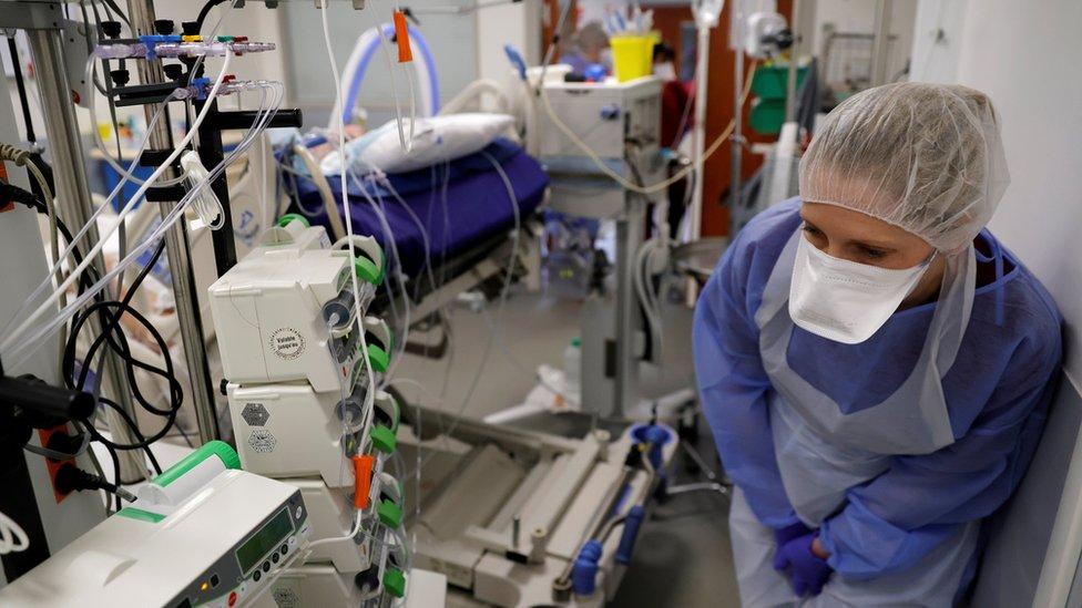ICU in Cambrai hospital in France
