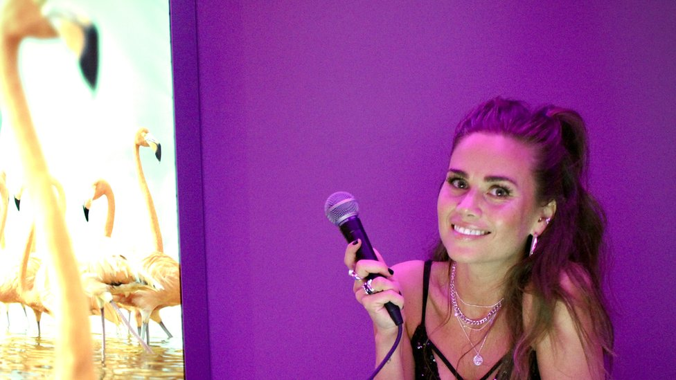Klara Elias runs Reykjavik's karaoke night