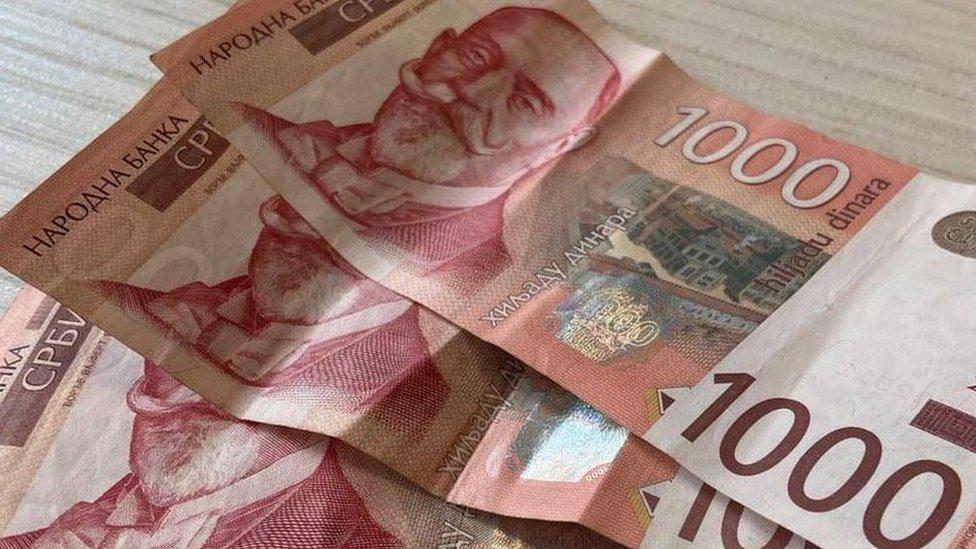 Novčanice od hiljadu dinara