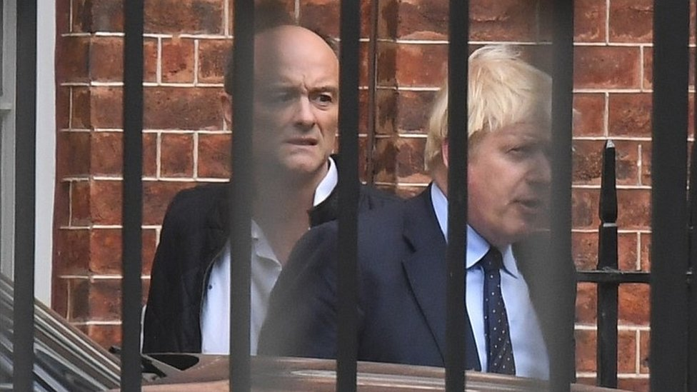 Dominic Cummings and Boris Johnson in 2019